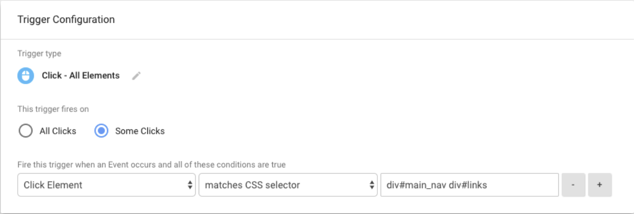 creating a Google Tag Manager trigger